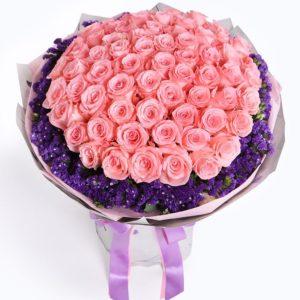 66 x Diana Pink Rose to China