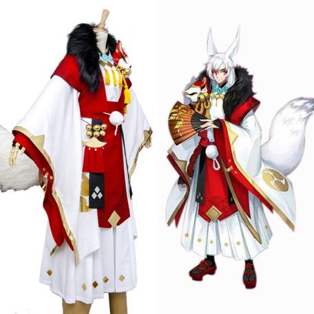 Onmyouji Fox Youko Cosplay Costume Outfit Kimono Suit Full Set